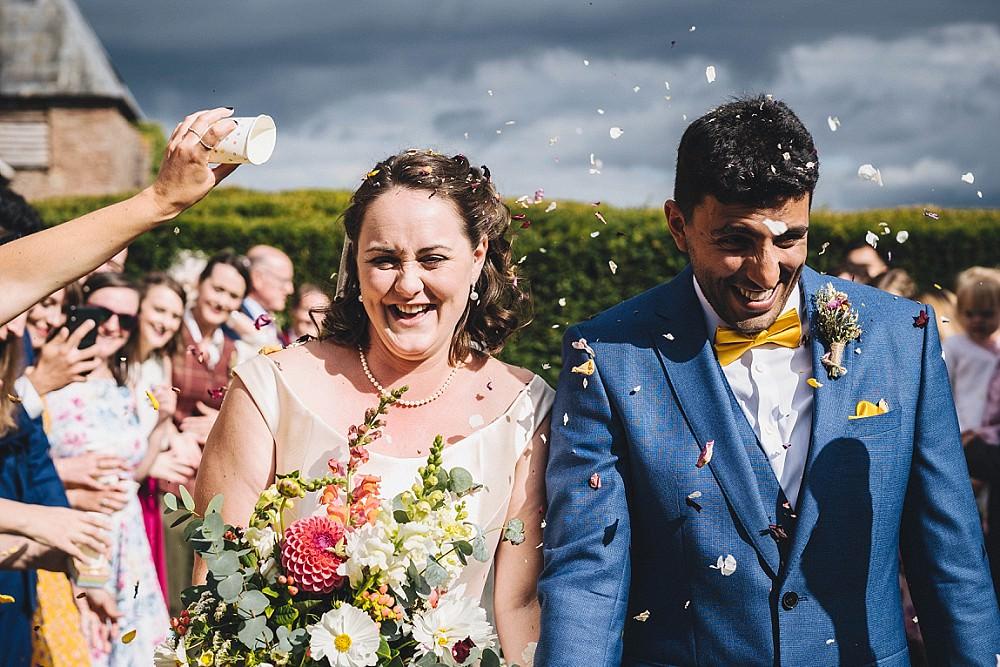 Confetti Throw Broadfield Court Wedding Marta May Photography