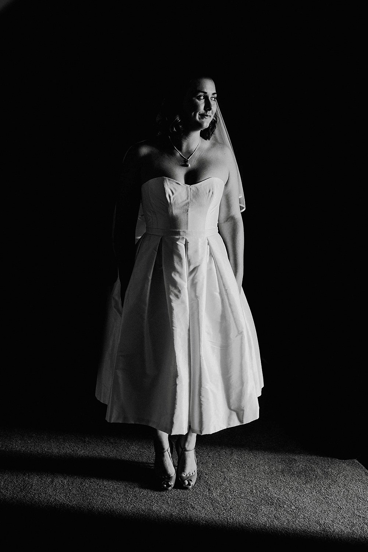 Dress Gown Bride Bridal Short Tea Length Stephanie Allin Broadfield Court Wedding Marta May Photography