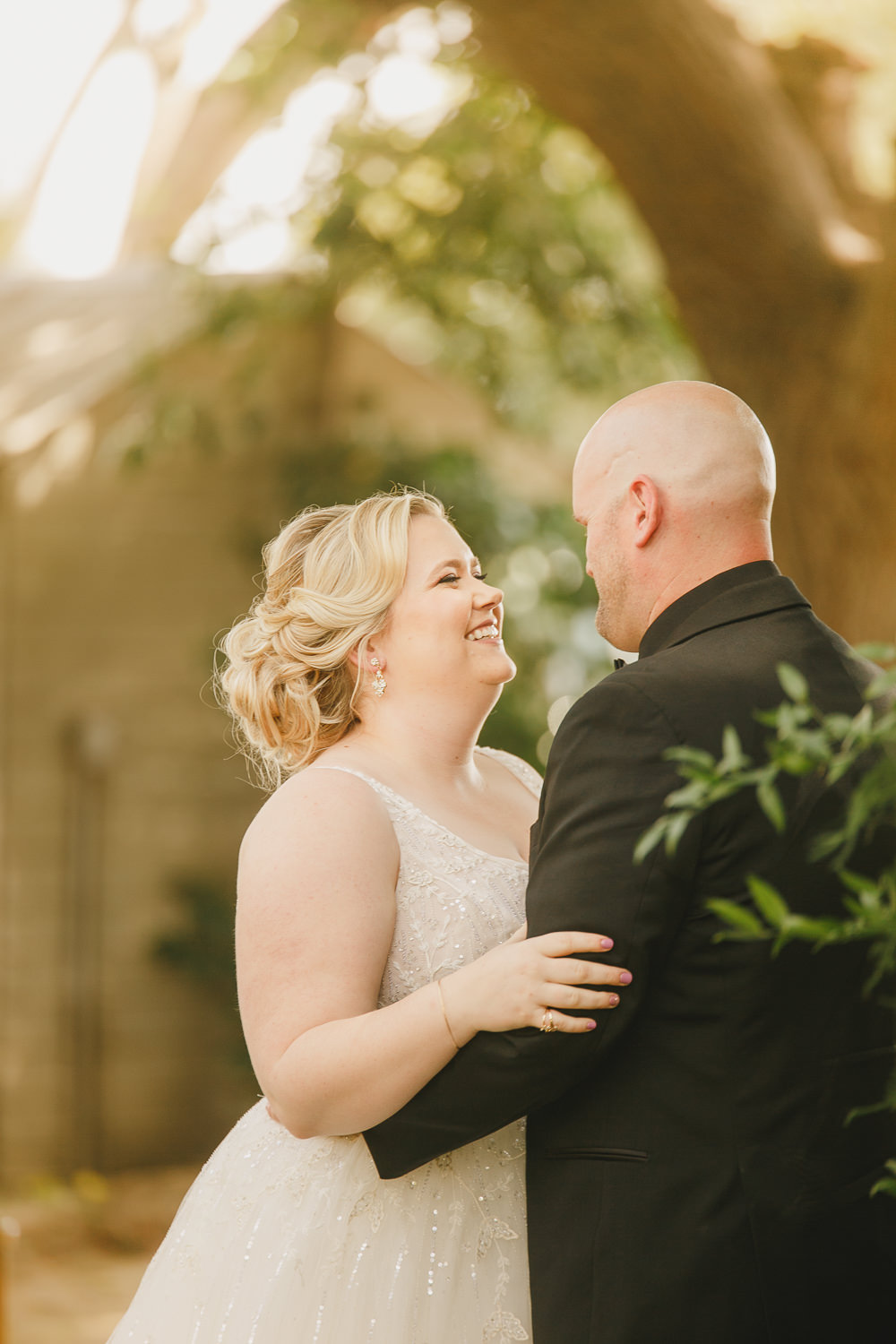 First Look Enchanted Forest Wedding Kristen Booth Photography