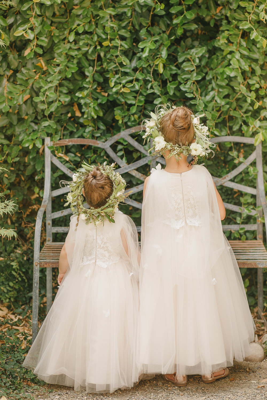 Flower Girl Dresses Flower Crown Enchanted Forest Wedding Kristen Booth Photography