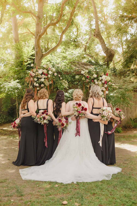 Bridesmaids Bridesmaid Dress Dresses Black Enchanted Forest Wedding Kristen Booth Photography