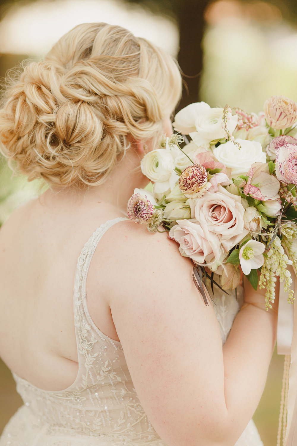 Bride Bridal Hair Style Up D Enchanted Forest Wedding Kristen Booth Photography
