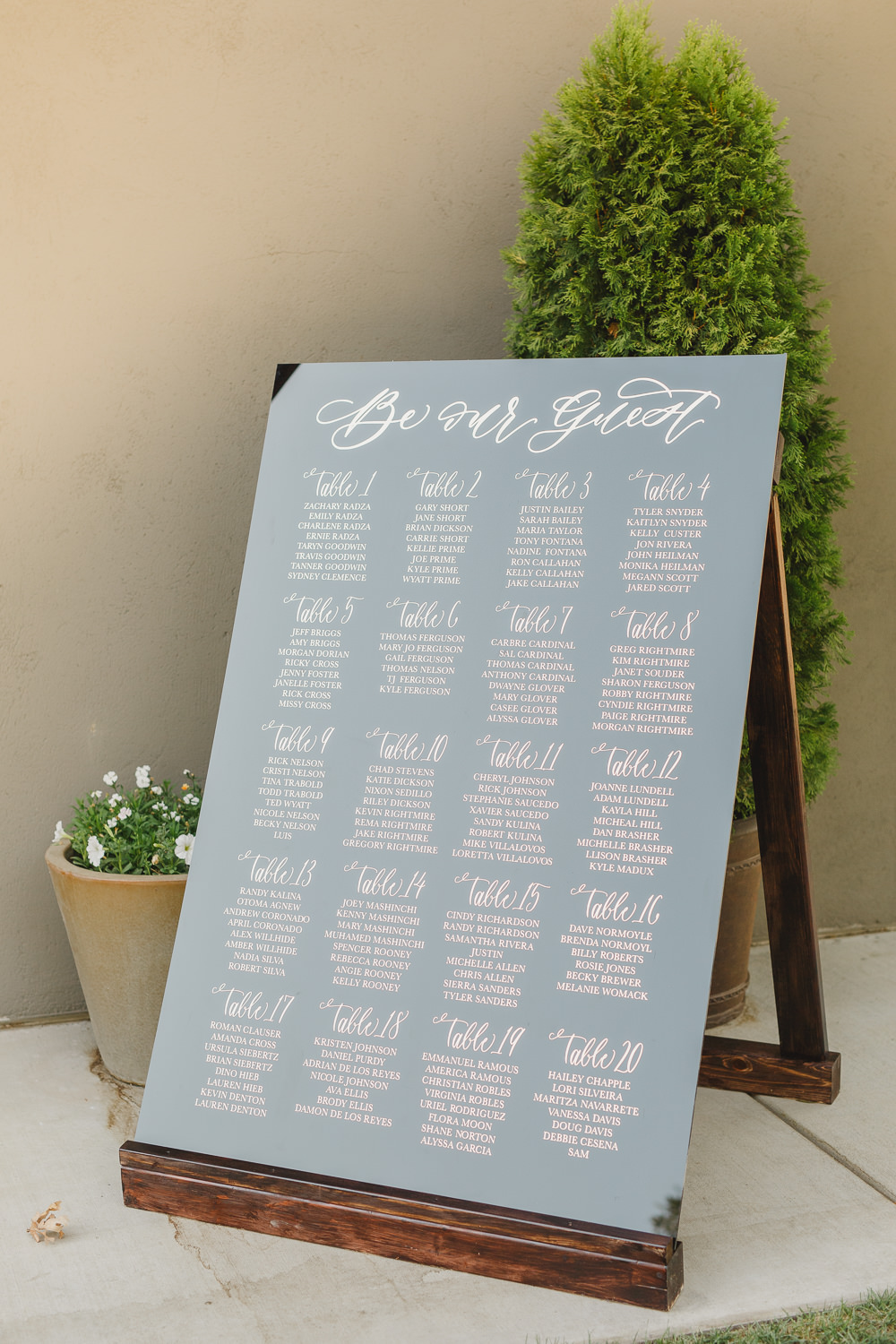 Table Plan Seating Chart Calligraphy Grey Enchanted Forest Wedding Kristen Booth Photography