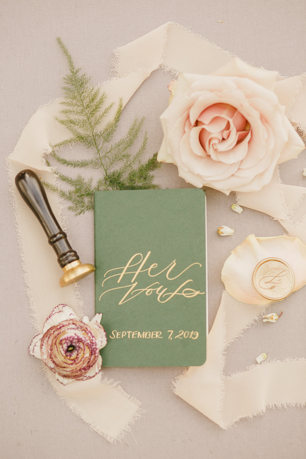 Vows Book Booklet Enchanted Forest Wedding Kristen Booth Photography