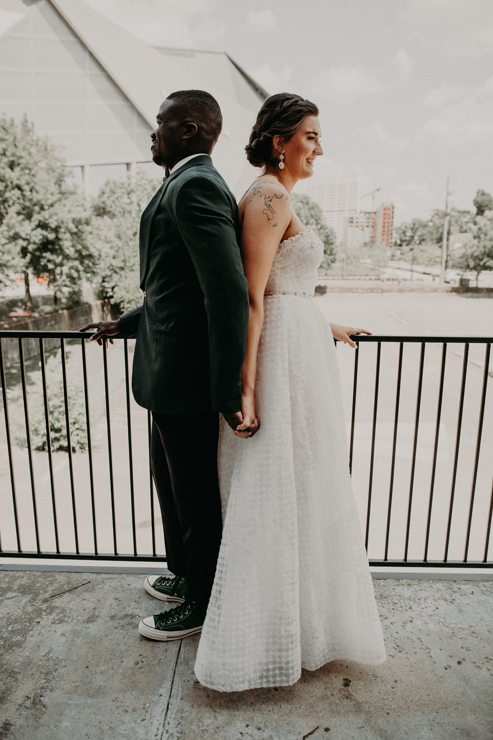 First Look Georgia Wedding Aline Marin Photography