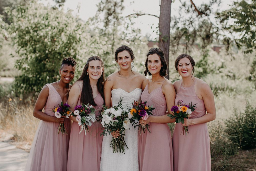 Bridesmaids Bridesmaid Dress Dresses Pink Georgia Wedding Aline Marin Photography