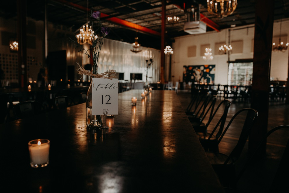 Brewery Venue Industrial Decor Georgia Wedding Aline Marin Photography