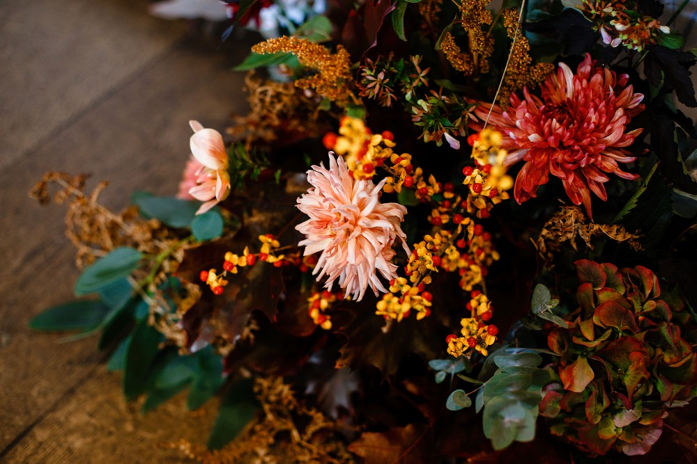 Autumn Flowers Ceremony Dahlia Great John Street Hotel Wedding About Today Photography