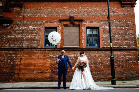 Great John Street Hotel Wedding About Today Photography Giant Balloon