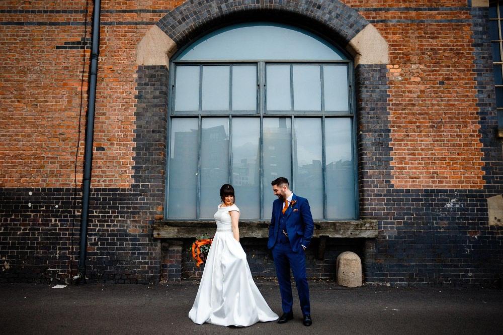 Bride Bridal Dress Gown Ronald Joyce Off Shoulder Bardot Great John Street Hotel Wedding About Today Photography