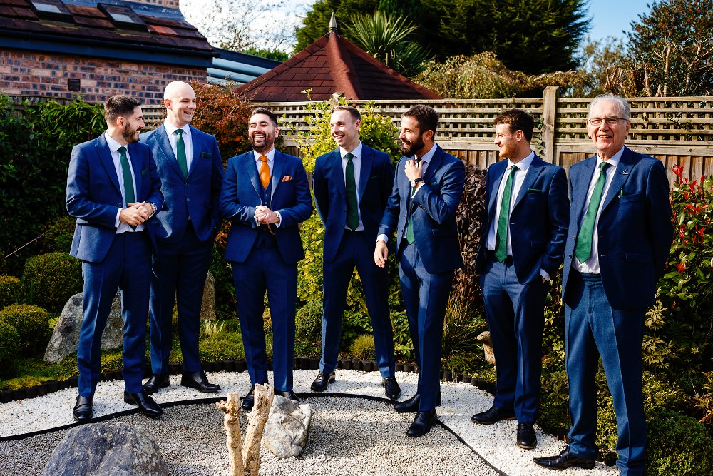 Groomsmen Suits Navy Great John Street Hotel Wedding About Today Photography