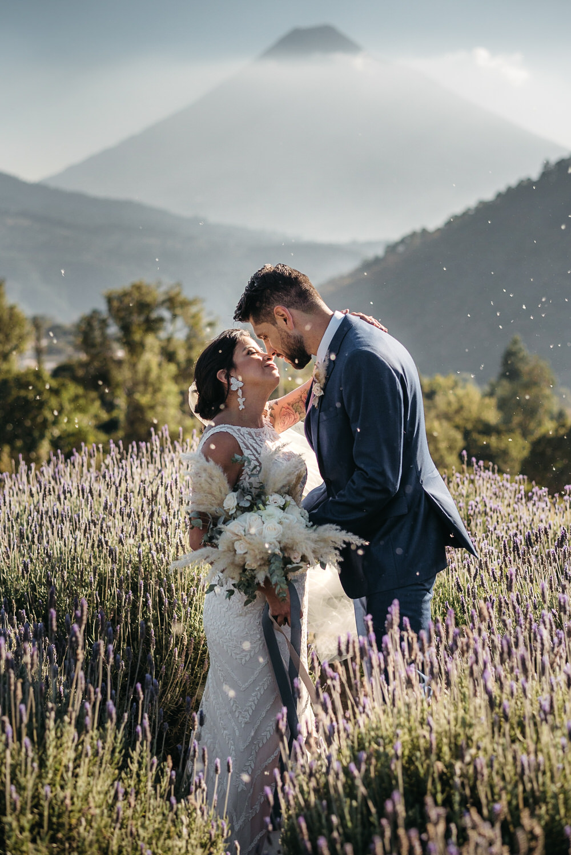 Guatemala Wedding Daniel Lopez Perez Photography Lavender Field Mountain