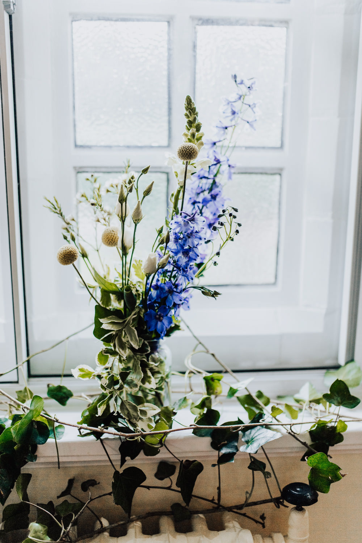 Table Flowers Decor Ivy Homemade Wedding Wyldbee Photography
