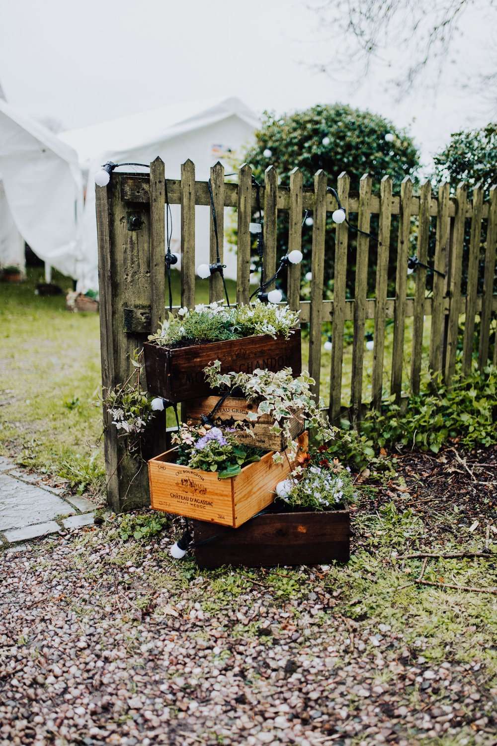 Wooden Crate Flowers Homemade Wedding Wyldbee Photography
