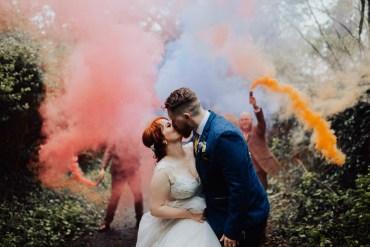 Homemade Wedding Wyldbee Photography Smoke Bomb Photo Portraits