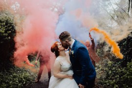 Homemade Wedding Wyldbee Photography Smoke Bomb Photo Portraits