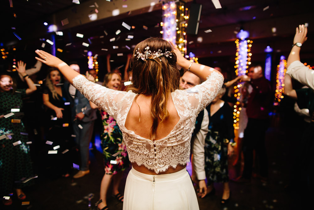 Dress Gown Bride Bridal Wendy Makin Bridal Designs Skirt Top Indie Warehouse Wedding Dan Hough Photo