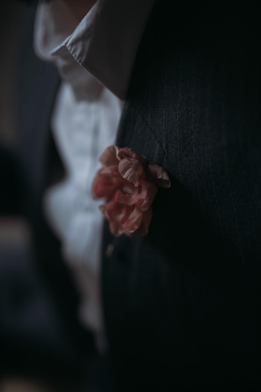 Groom Buttonhole Pink Italy Elopement Ideas Gradisca Portento Fotografica