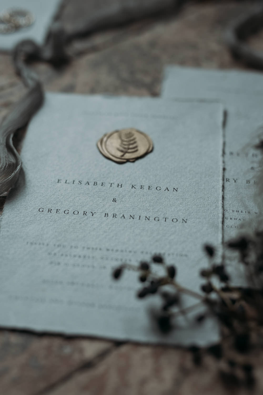 Stationery Invite Invitation Wax Seal Italy Elopement Ideas Gradisca Portento Fotografica