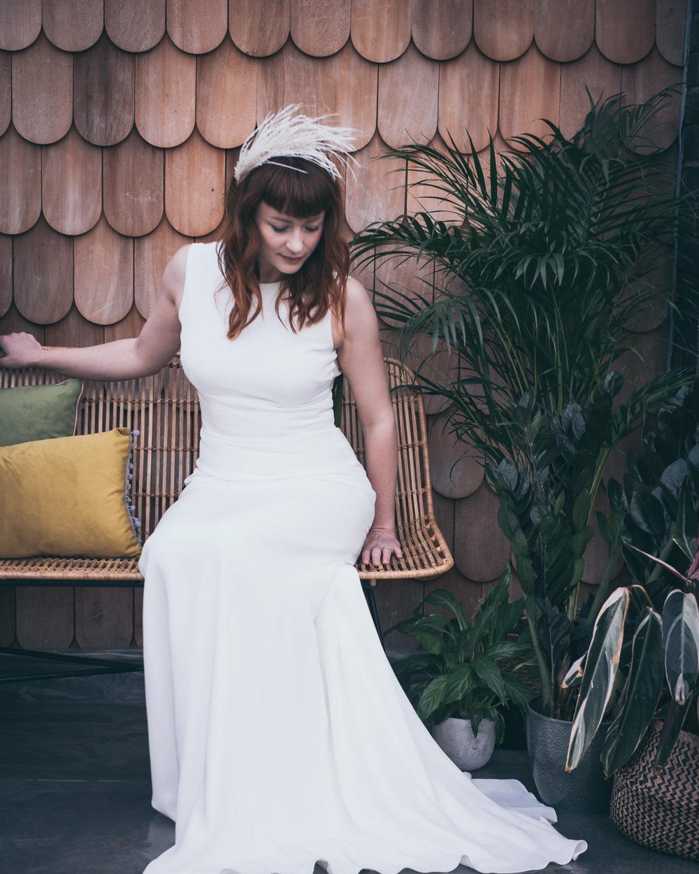 Bride Bridal Dress Gown Andrea Hawkes Bridal Sleek Fitted Modern Wedding Ideas Cat Arwel Photography