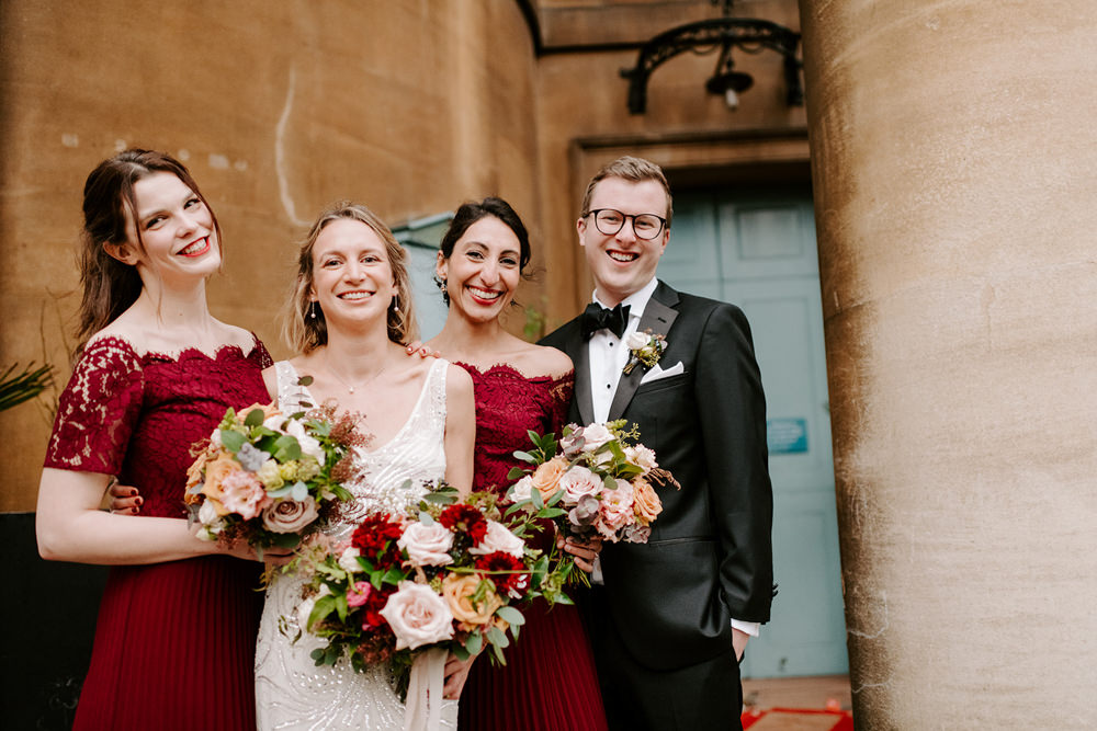 Bridesmaids Bridesmaid Red Lace Dress Dresses NYE Wedding Ellie Gillard Photography