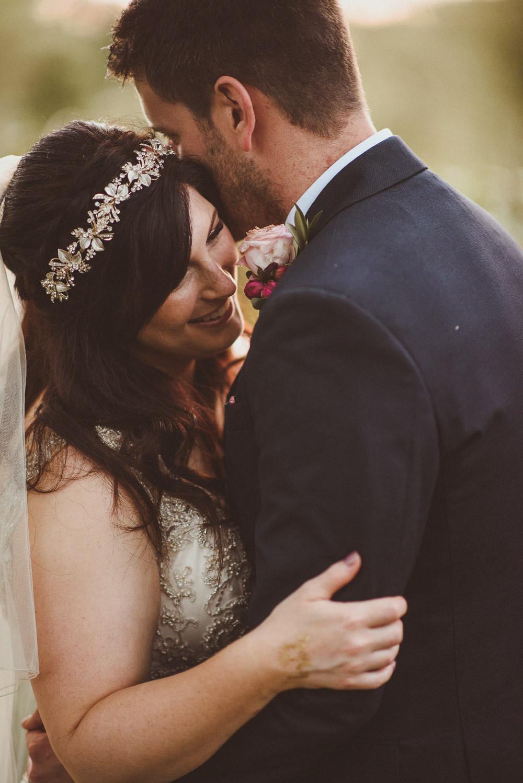 Bride Bridal Crown Old Greens Barn Wedding Matt Penberthy Photography