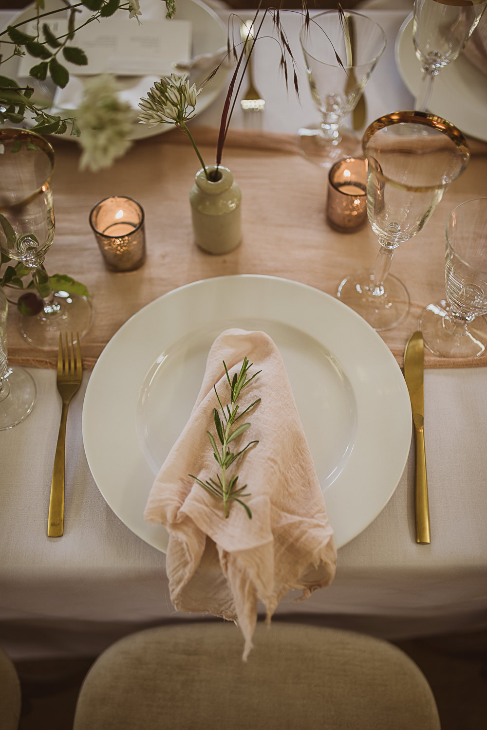 Place Setting Napkin Small Wedding Ideas The Springles