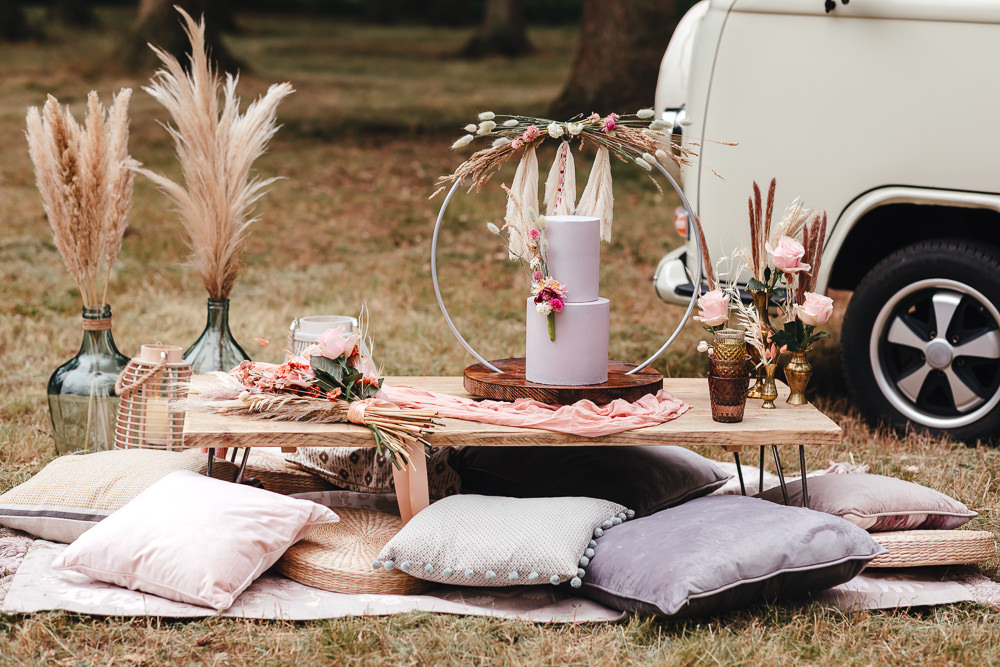 Table Tablescape Decor Wooden Pallet Cushions Bohemian Elopement Kirsty Mackenzie Photography
