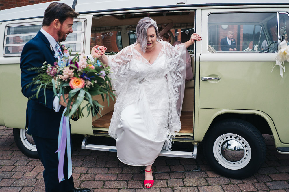 VW Camper Transport Hammer and Pincers Wedding Sally T Photography