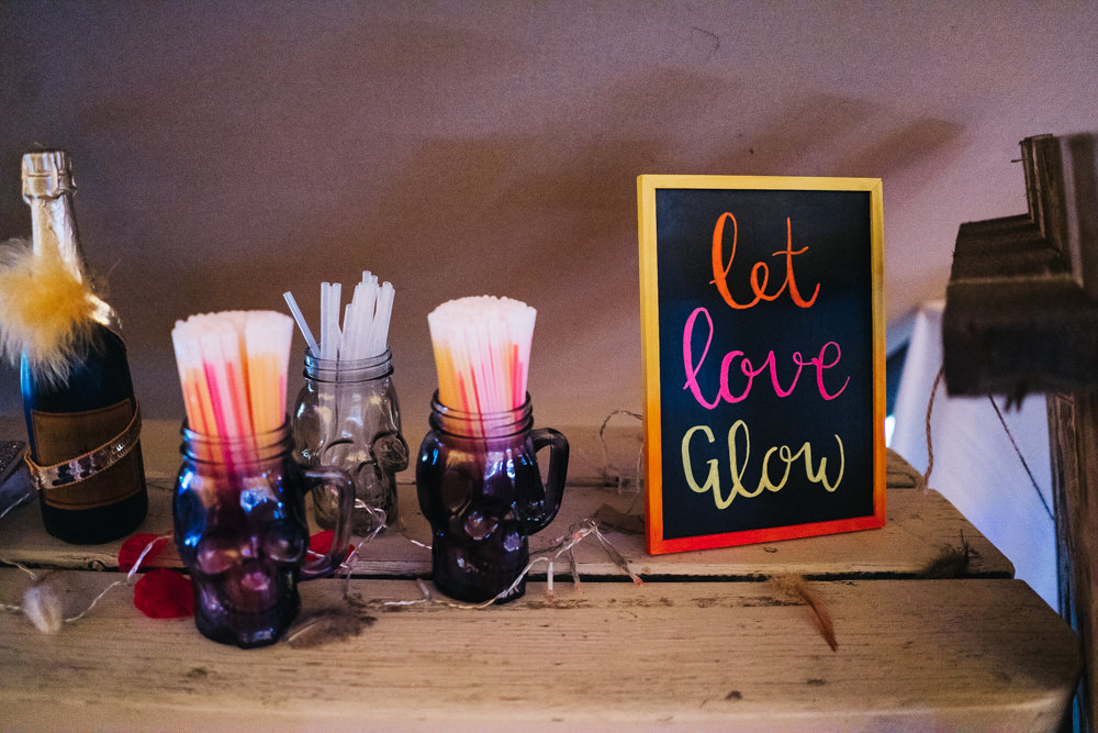 Glow Sticks Hammer and Pincers Wedding Sally T Photography