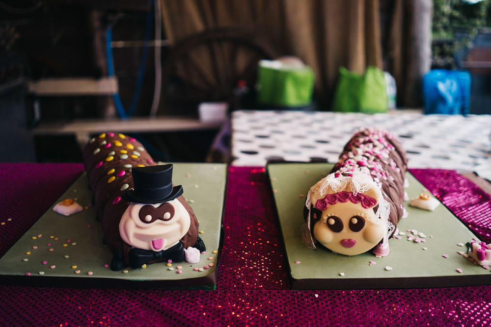 Caterpillar Cakes Hammer and Pincers Wedding Sally T Photography