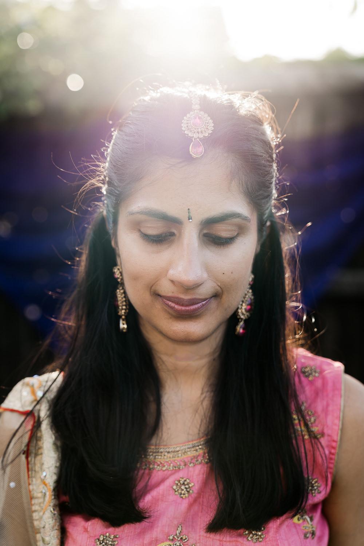 Bride Bridal Hair Make Up Indian Wedding UK Laura May Photography