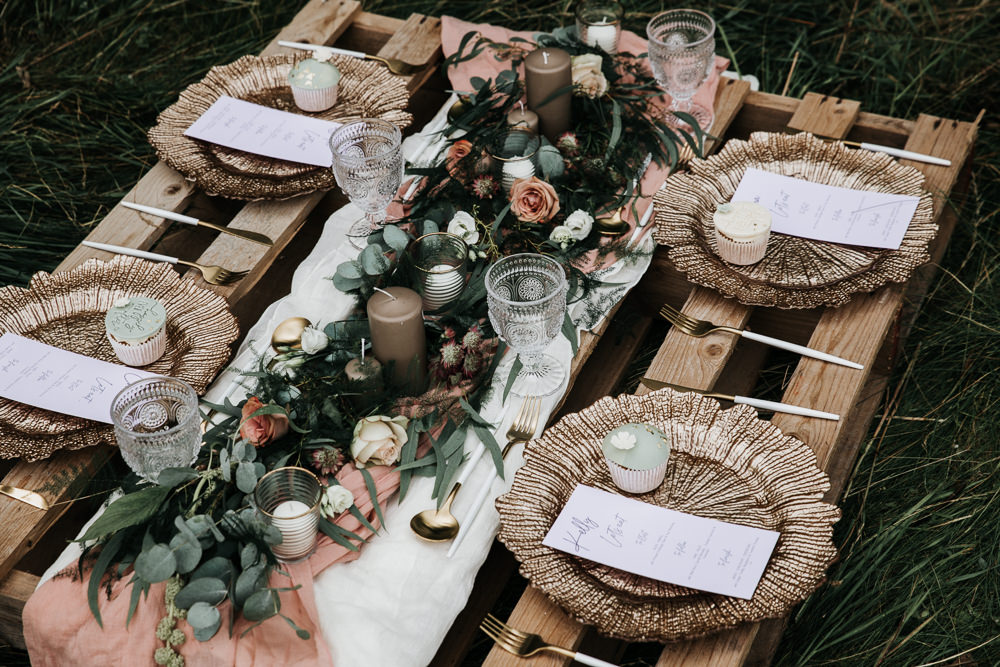 Micro Wedding Ideas Gareth J Photography Wooden Pallet Table Decor Flowers Decoration