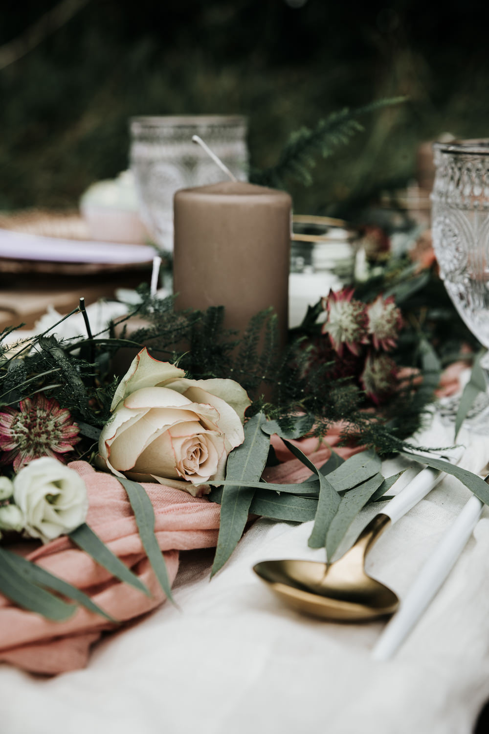 Micro Wedding Ideas Gareth J Photography Centrepiece Table Candle Flowers