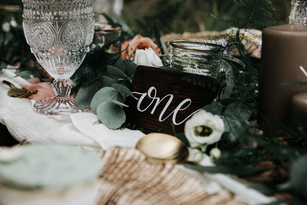 Micro Wedding Ideas Gareth J Photography Calligraphy Table Number