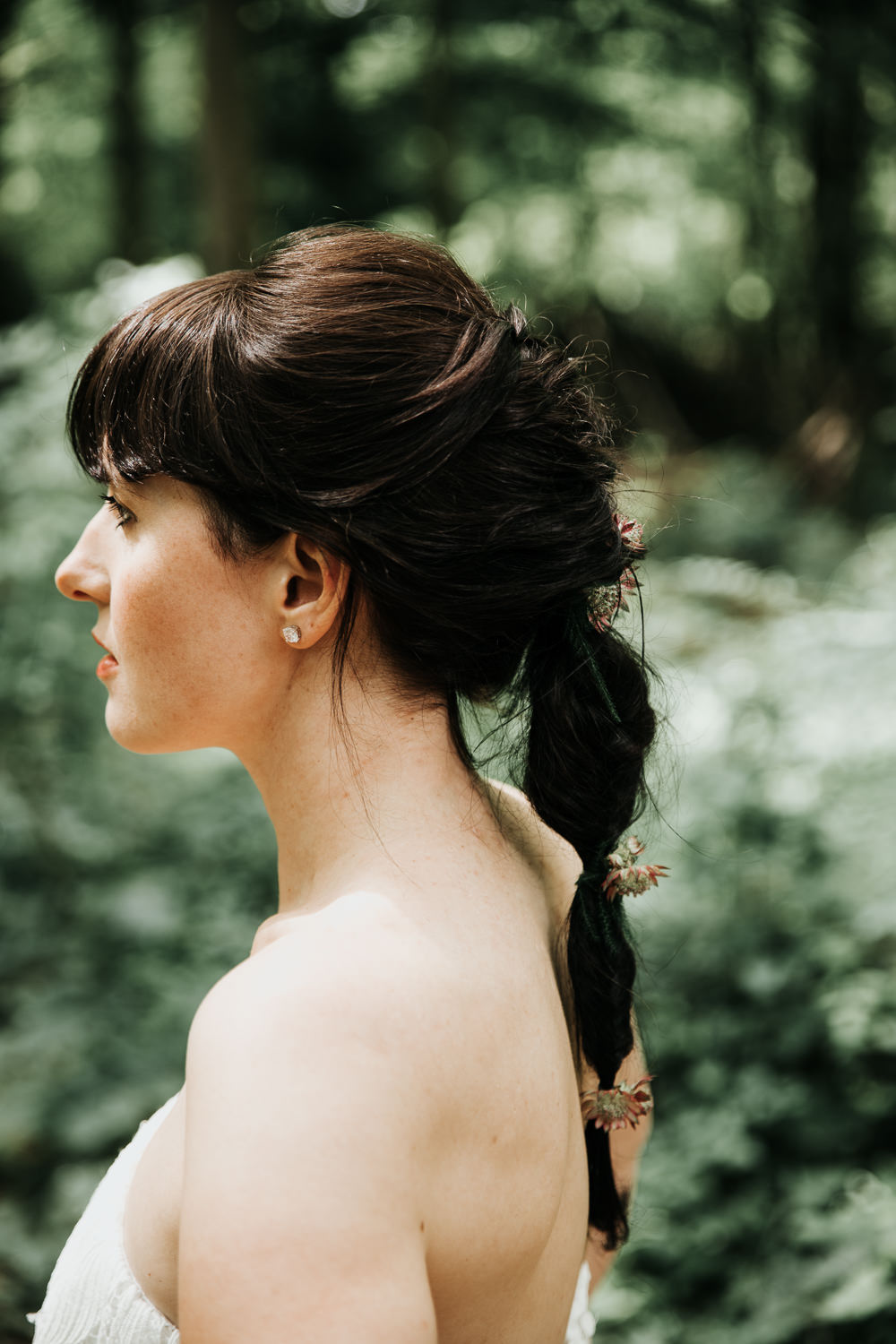 Micro Wedding Ideas Gareth J Photography Bride Bridal Hair Style Up Do Pony Tail