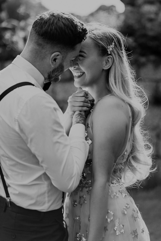 Bride Bridal Hair Stlye Long Waves Pin Midsummer Night's Dream Wedding Ideas Dani Louise Photography