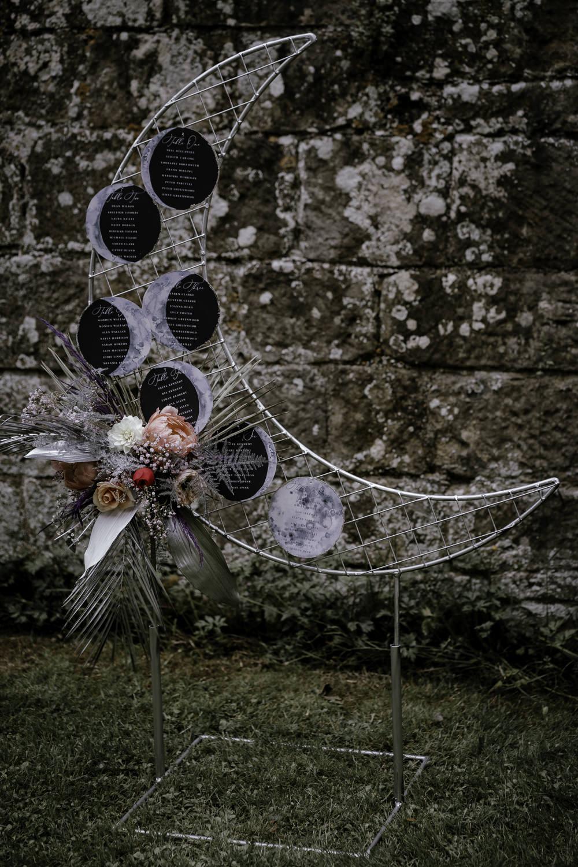 Crescent Moon Table Plan Seating Chart Decor Midsummer Night's Dream Wedding Ideas Dani Louise Photography