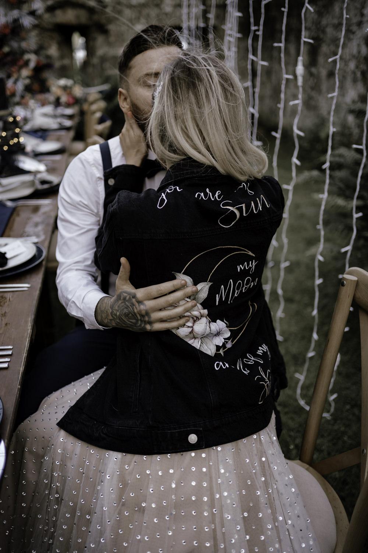 Bride Bridal Jacket Leather Personalised Midsummer Night's Dream Wedding Ideas Dani Louise Photography