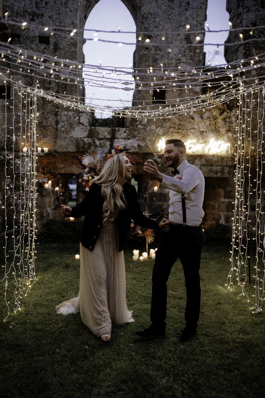 Midsummer Night's Dream Wedding Ideas Dani Louise Photography Fairy Light Tunnel
