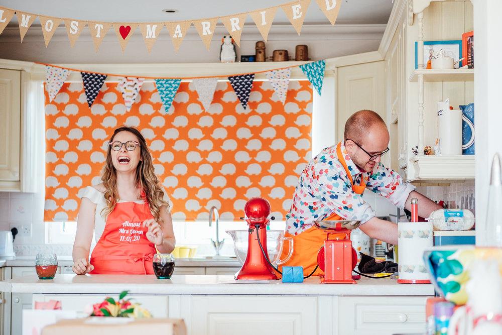 Baking Home Kicthen Pandemic Wedding Anna Pumer Photography