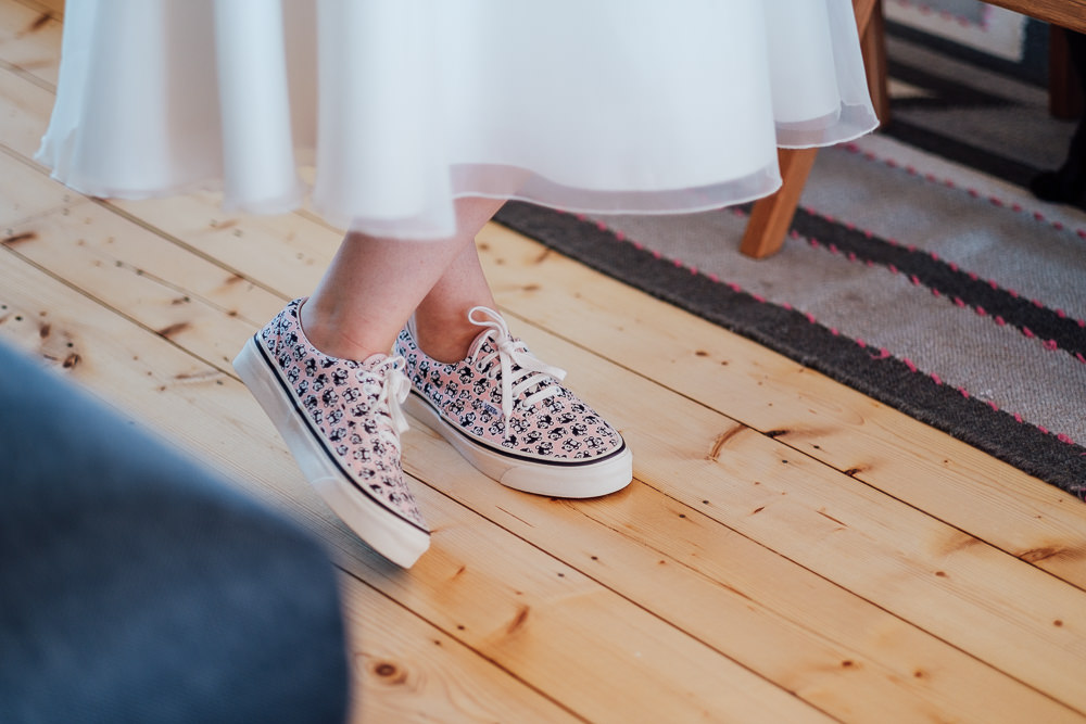 Bride Bridal Vans Shoes Pandemic Wedding Anna Pumer Photography