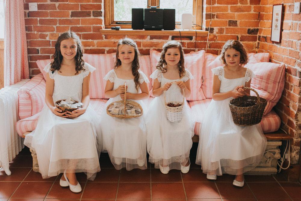 Flower Girls Dresses Basket Petals Pennard Hill Farm Wedding MT Studio