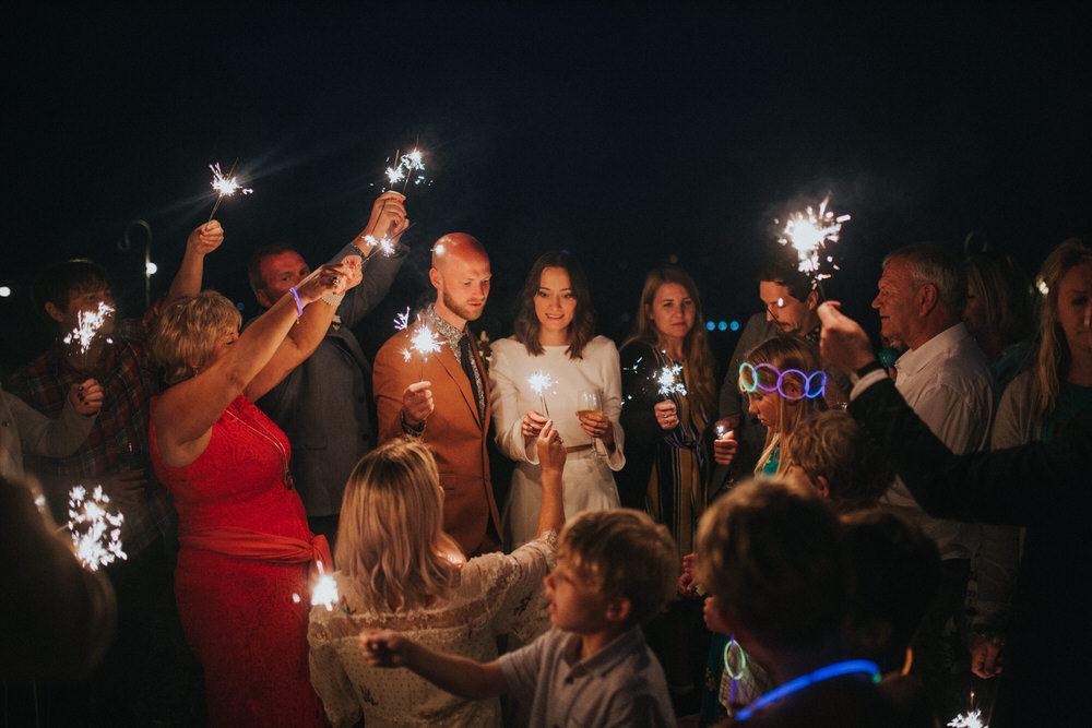 Sparklers Sparkler Pennard Hill Farm Wedding MT Studio