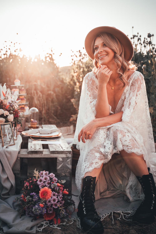 Bride Bridal Boots Poppy Field Wedding NT Creatives