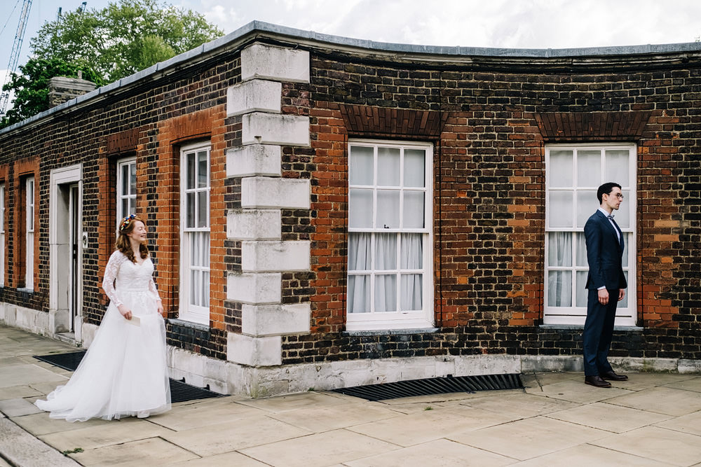First Look Royal Hospital Chelsea Wedding Kristian Leven Photography