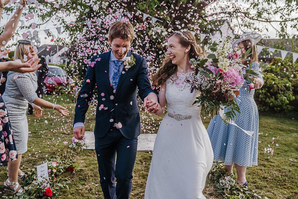 Confetti Throw Socially Distanced Wedding Tiffany Gage Photography