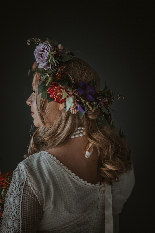Bride Bridal Flower Crown Art Wedding Ideas Tom Halliday Photography