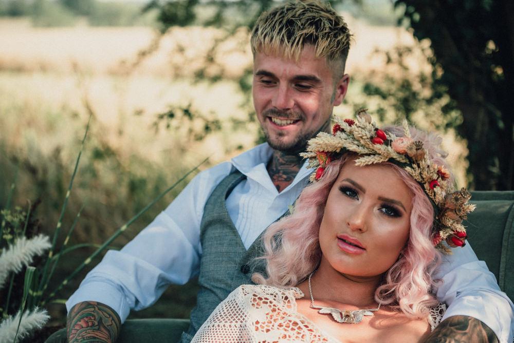 Bride Bridal Make Up Boho Wedding Ideas Roshni Photography