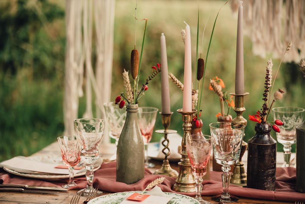 Bottle Flowers Decor Boho Wedding Ideas Roshni Photography